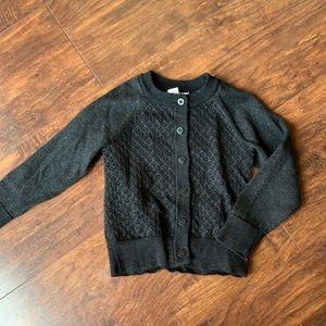 Cat & Jack black button down sweater